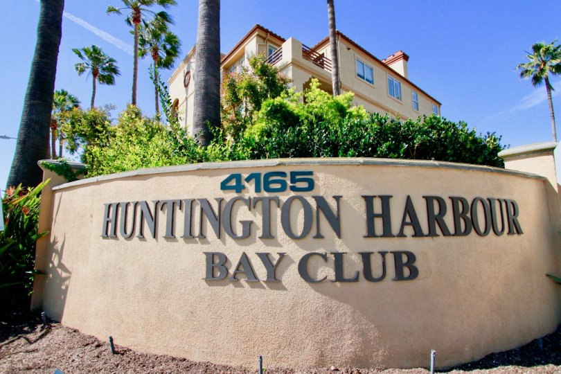 The entrance gives only a clue of the amenities you can find at the Huntington Harbour Bay Club, Huntington Beach, California.