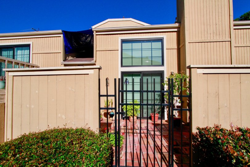 Excellent view of Main Entrance with small plants in Huntington Terrace of Huntington Beach