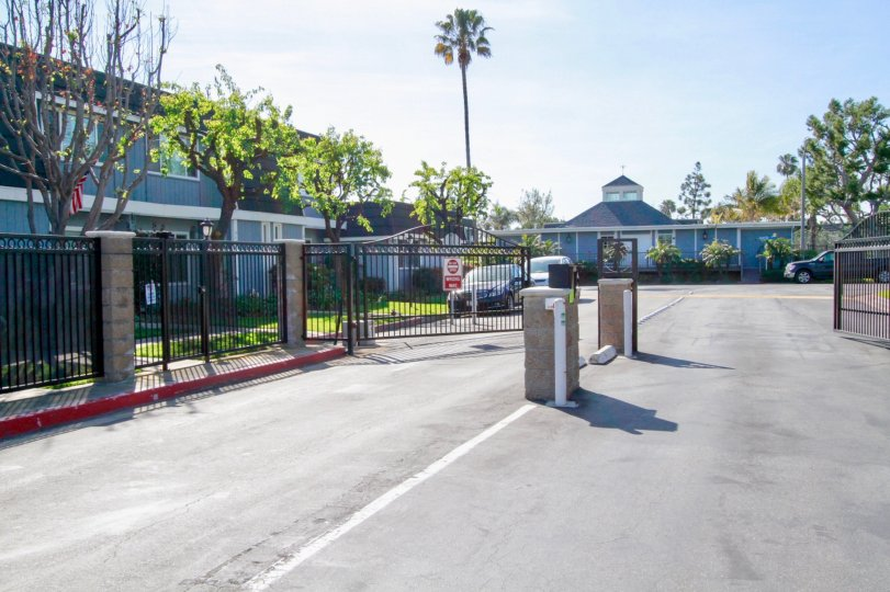 Entrance and Exit Gates into the Mariners Cove Community in Huntington Beach, California