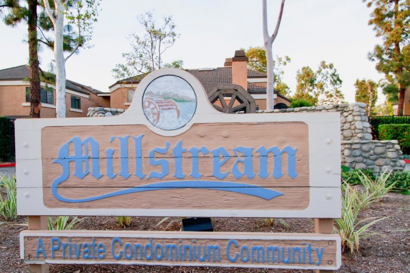 Beautiful looking Community Board and trees around in Millstream of Huntington Beach