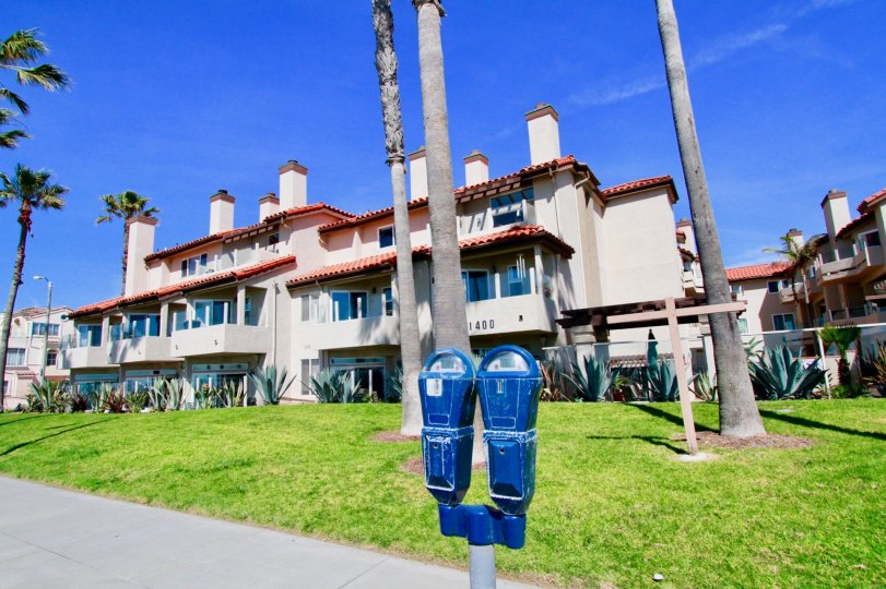 a dust bin like mail box is found in ocean breeze it shows the inovation of the people in huntington beach, california