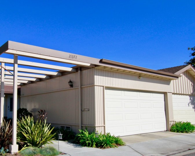 the house has two large car sheld in villa pacific of huntington beach, california