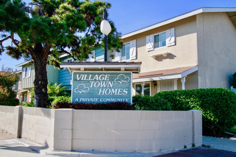 the village townhomes is the private community which is locate in huntington beach, california