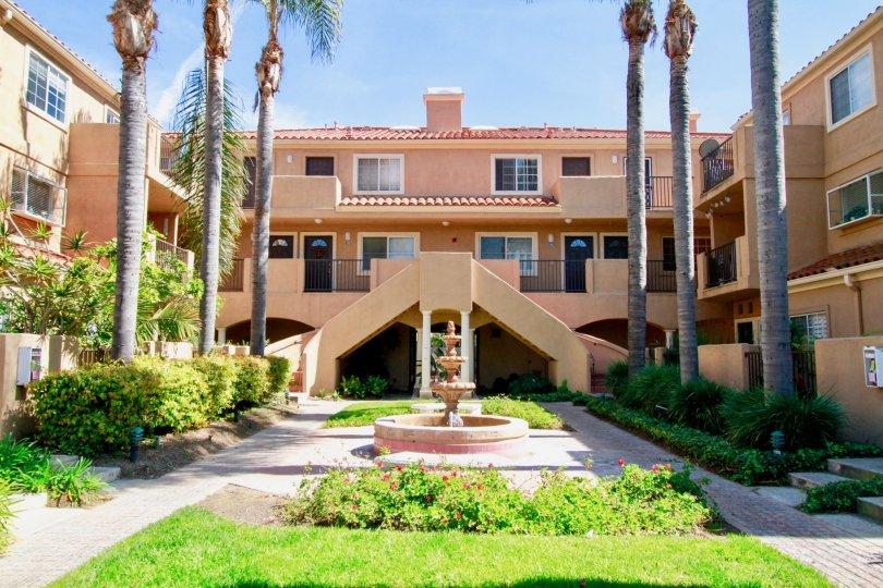A sunny day at Villas Del Mar in Huntington Beach, California.