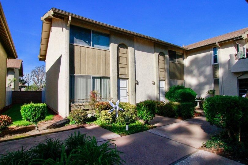 A bright day at Yorktown Villas in Huntington Beach, California.