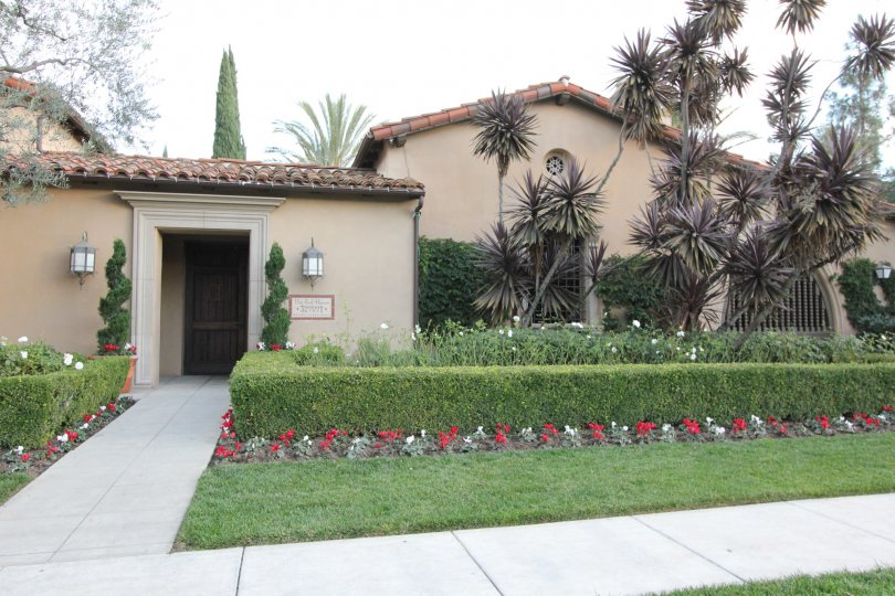 THIS IMAGE REPRESENTS THE FRONT OF THE HOUSE NEARBY BEAUTIFUL PLANTS ARE PLANTED, TREES, LAWN ARE SHOWN IN THE CITY OF IRVINE