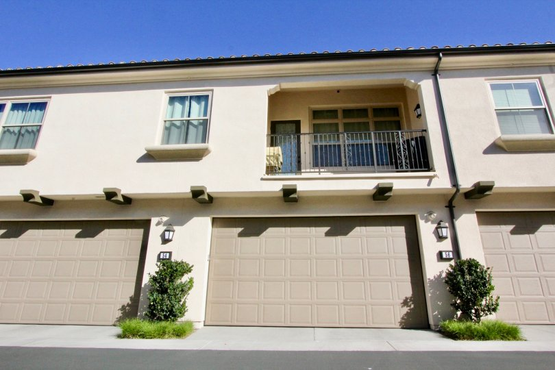 A front side and balcony view of a house in caserta, Irvine city of californi