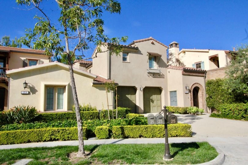 Beautiful day outside this multi-level home in the Los Arboles community.