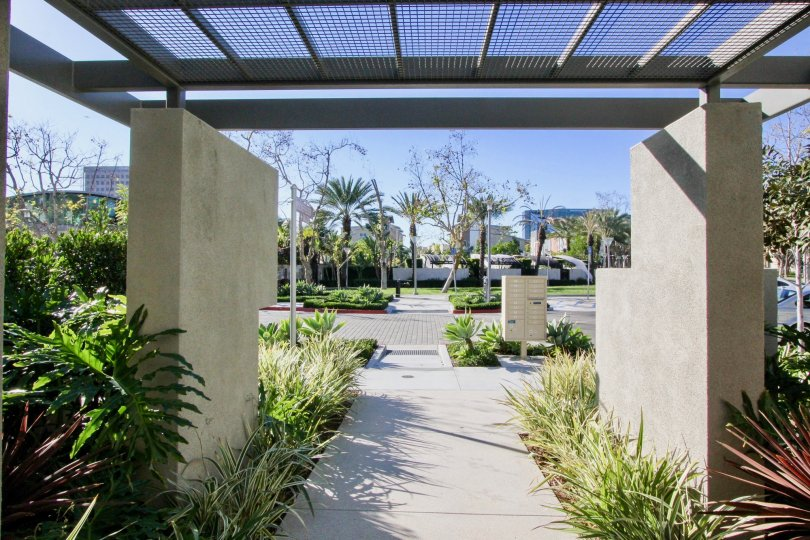 A Park with the entrance which designed at a openly in Manhatten, Irvne California