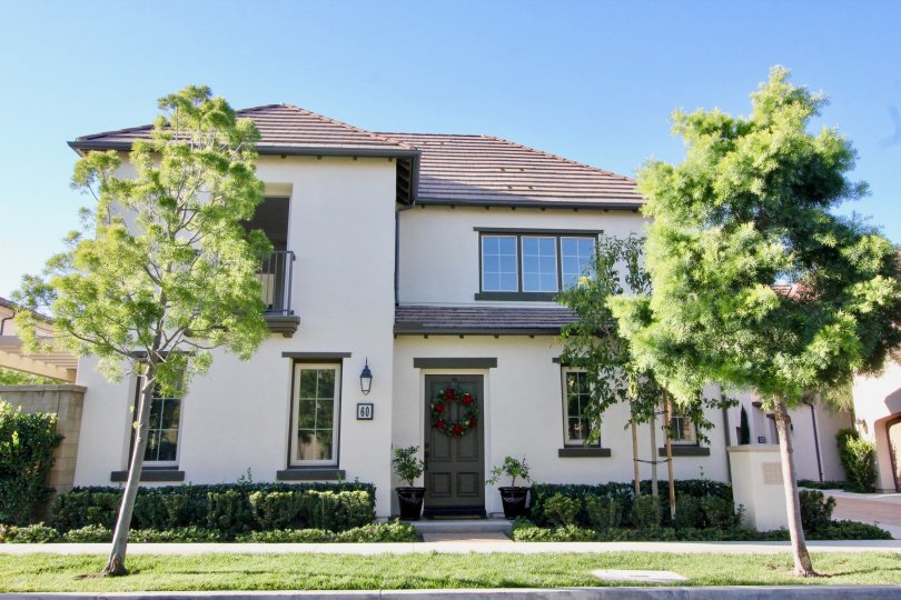 A large two story home with many windows at Marigold in Irvine California