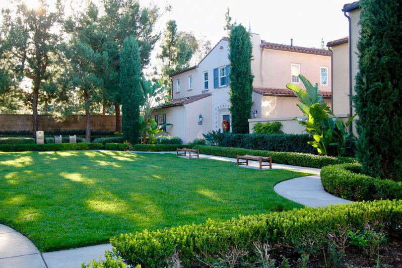 THE VILLA WITH BEAUTIFUL LAWN WITH PLANTS, TREES WHICH IS LOCATED IN MERICORT COMMUNITY