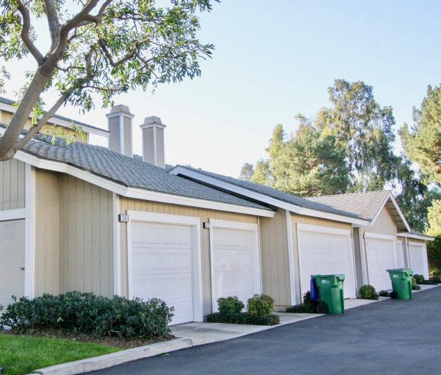 Beautiful view of villas with parking and road point in Northwood Timberline of Irvine