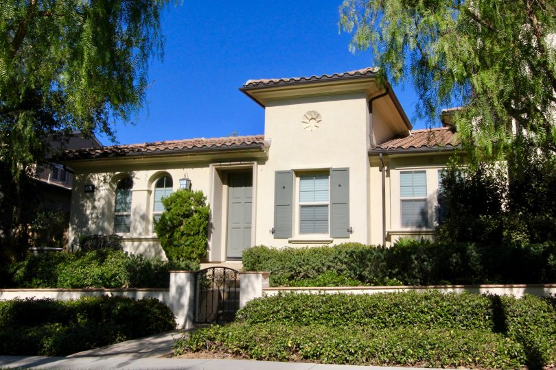 Two story apartment complex located inside Paloma in Irvine California