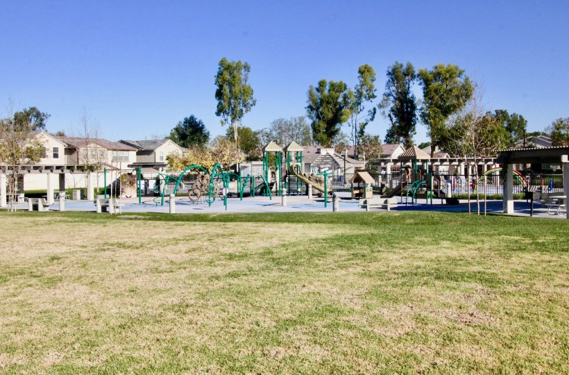 A far view of a children's playground in Parkside community.