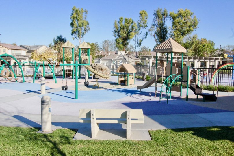 Children can enjoy the engaging playground at Parkside in Irvine.