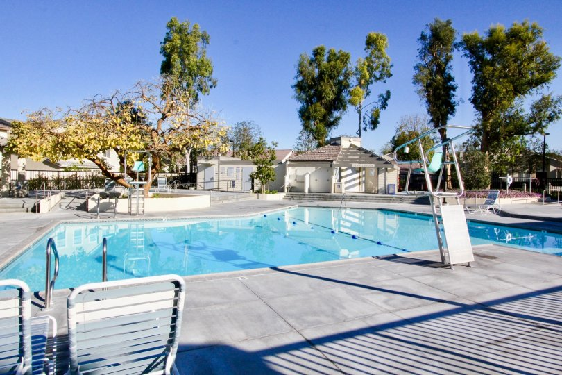 Wonderful swimming pool to relax and spend time with friends and family members in Parkside at Irvine, CA