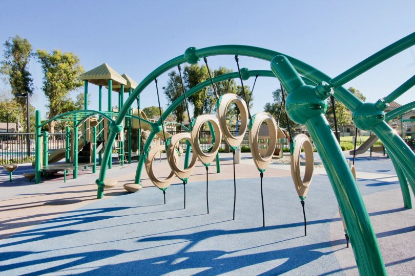 The playground in the Parkside neighborhood on a sunny day