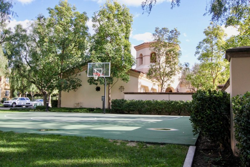 Awesome view of Villa with basketball court and trees around in San Simeon of Irvine