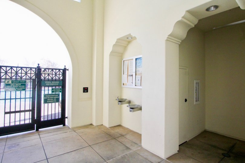Interior view of foyer in Sandalwood community located in Irvine, California