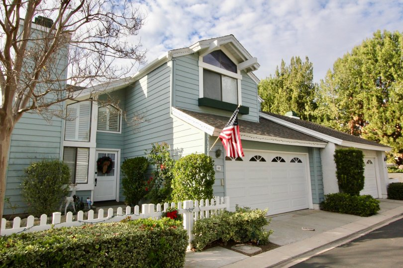 A house with a National flag in Seasons Irvine, California