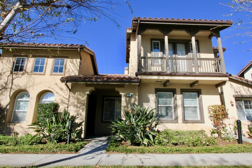 A midwestern style two story with a balcony porch and plenty of natural light, in Serissa, Irvine, California