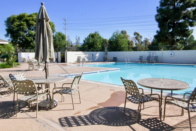 Swimming pool to swim in the Smoketree community at Irvine, California