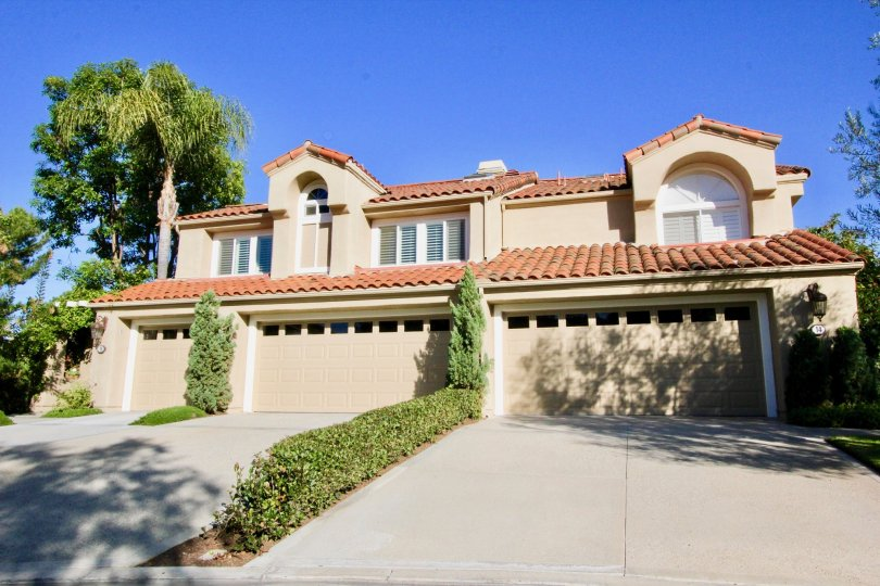 Two long driveways leading up to garages attached to homes at Turtle Rock Pointe in Irvine CA