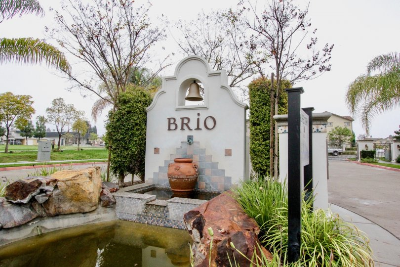 Marvellous entrance approach with name in Brio of La Habra