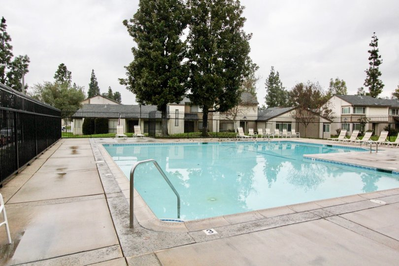 Nice Swimming pool wtih trees around and sitting place in Sunny Hills Village of La Habra