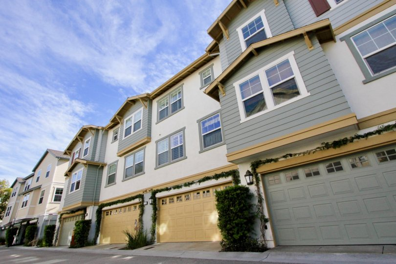 Rows of condos in the Briar Rose at Ladera Ranch, CA