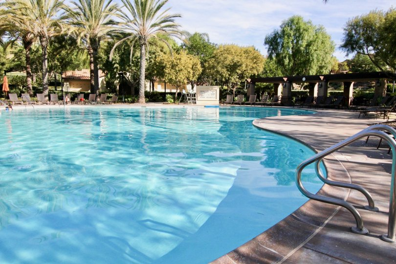 Breathtakingly attractive community pool facility at the Castelina community