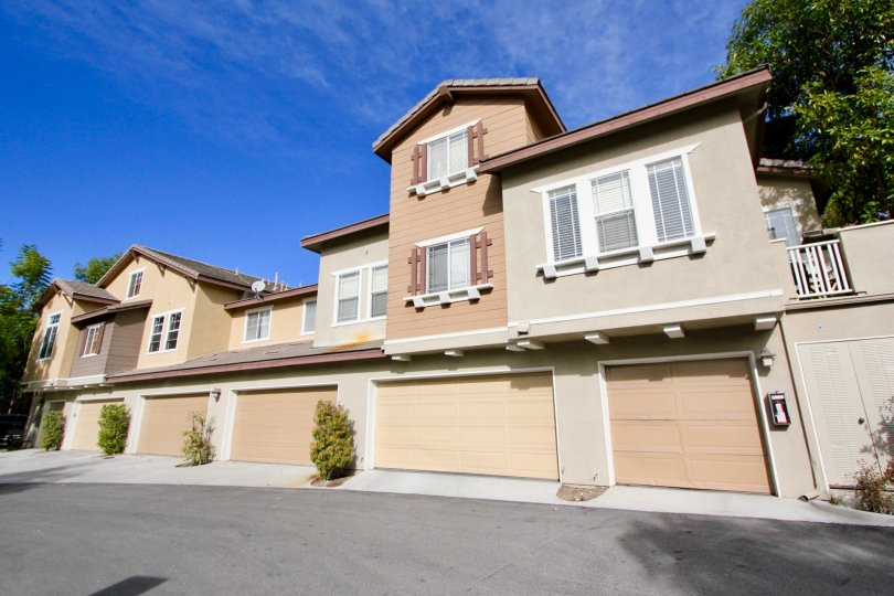 Multi family housing with garages in the community of Chambray in Ladera Ranch, California