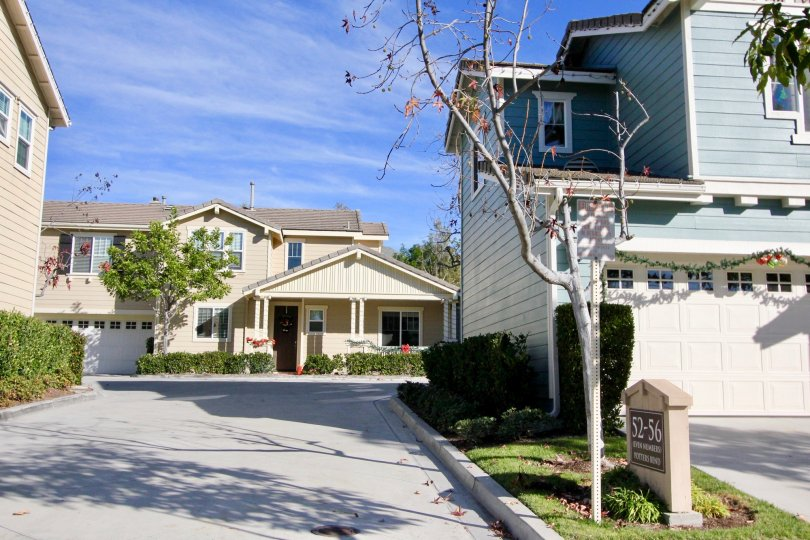 Quaint community of Potters Bend in Ladera Ranch, California.