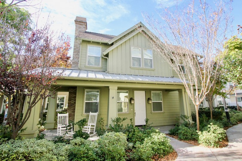 Awesome green coloured villa with green garden and sitting in Tarleton of Ladera Ranch