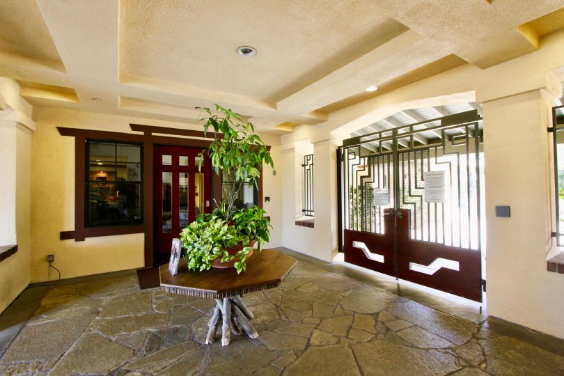 Gate and entrance at the Valmont in Ladera Ranch, CA