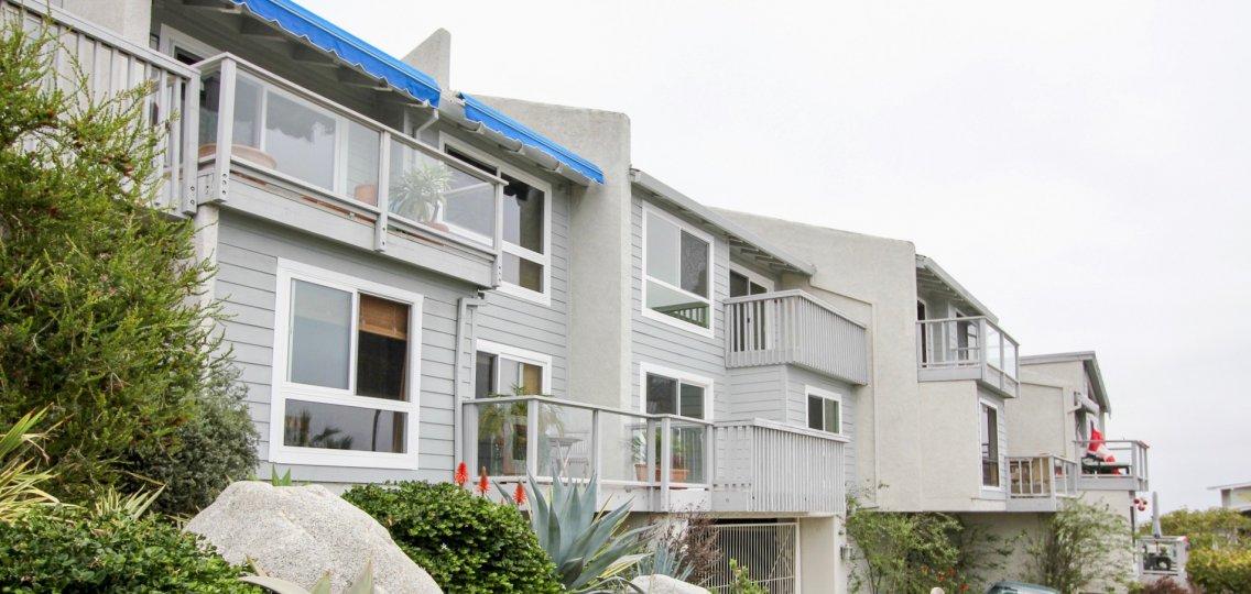 An overcast day in a friendly neighborhood of the Aliso Laguna in the Laguna Beach of California.