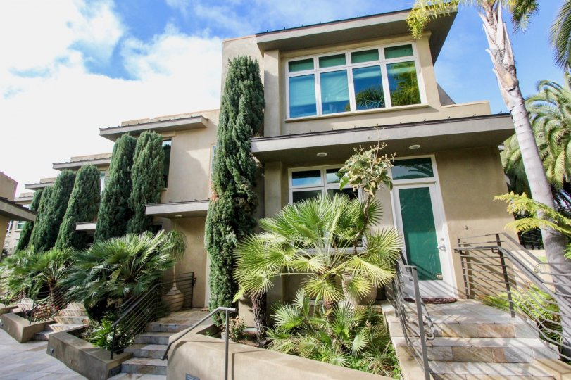 Beautifully landscaped the Crescent Bay Villas in Laguna Beach, California.