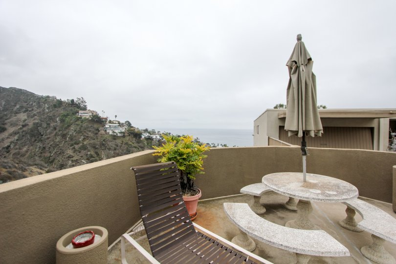 Enjoy the ocean view from your deck when you live at Laguna Ocean Vista.