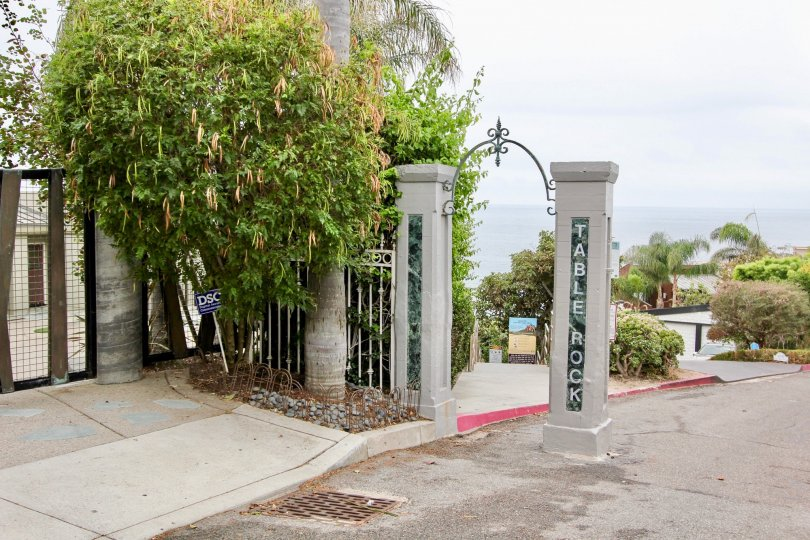 the teable rock is a funny gate house of the laguna beach in CA