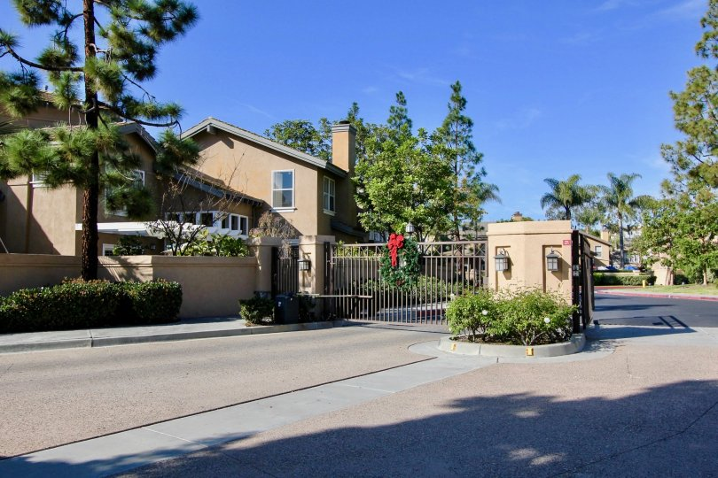 Many homes that are in a gated Cameray Pointe community in Laguna Niguel, California