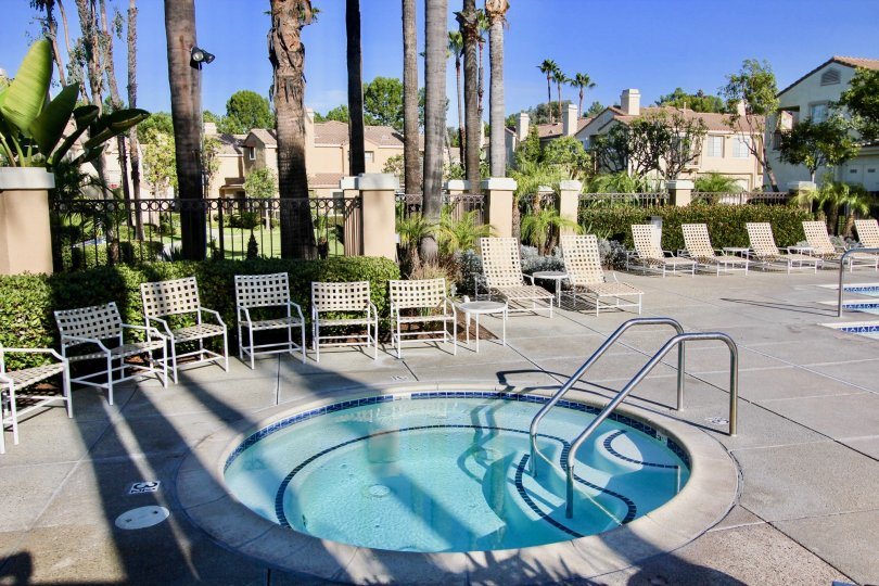 Chairs and hot tub in Chandon in Laguna Niguel, CA