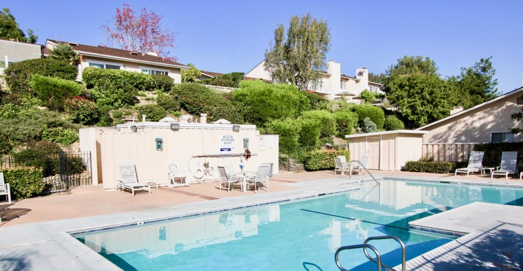 Large pool in El Niguel Terrace, Laguna Niguel California