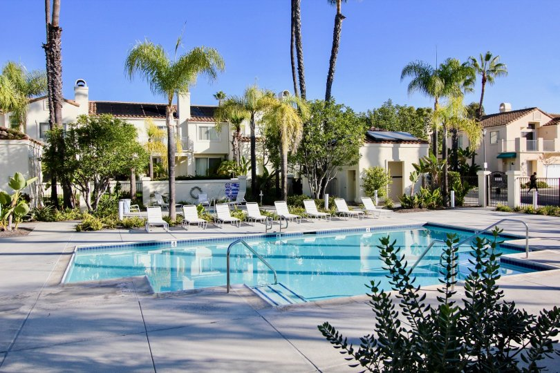 The Encore community has it's own private pool and spa area and use of the Marina Hills amenities which include a community pool, spa, tennis courts and clubhouse