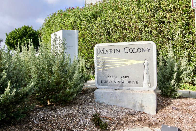 the Marin Colony is a green place of laguna niguel city in california