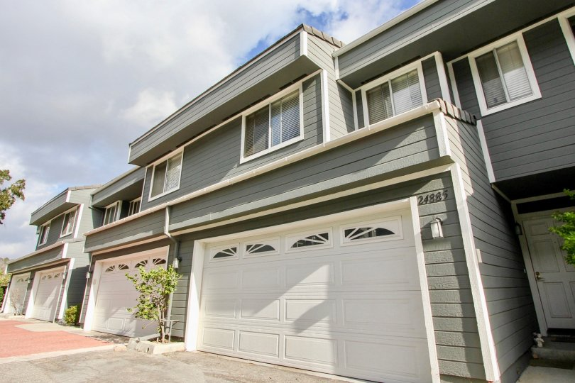 Adjoining duplex homes in the Marin Colony community of Laguna Niguel, California