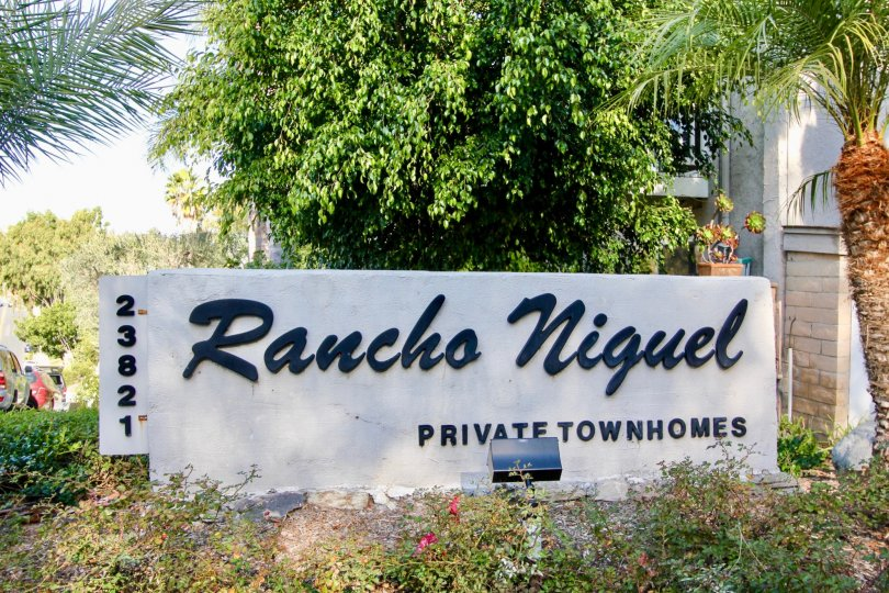 A sunny day at Rancho Niguel private townhouse complex.
