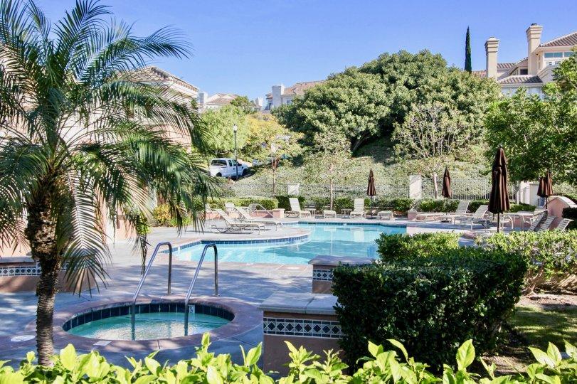 Hot tub and pool at the Riviera in Laguna Niguel, CA