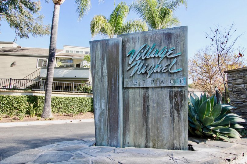 Front sign at Village Niguel Terrace I in Laguna Niguel, CA