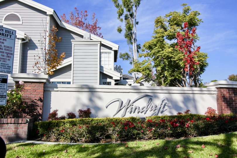 Clear sky above the Windrift community in Laguna Niguel, CA
