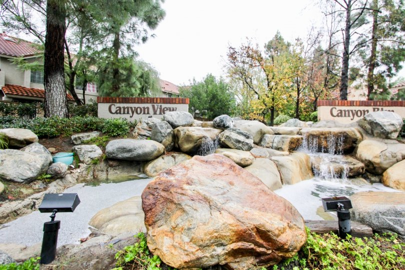 The beautiful grounds of Canyon View  in Lake Forest, California.